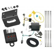 Trailer Wiring and Bracket and Light Tester For 16-19 Chevrolet Cruze (New Body Style) 4-Flat Harness Plug Play