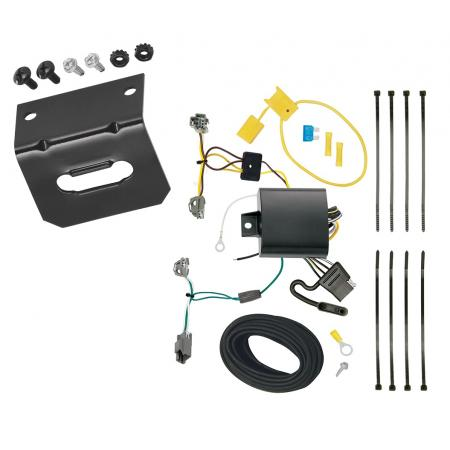 Trailer Wiring and Bracket For 16-19 Chevrolet Cruze (New Body Style) 4-Flat Harness Plug Play