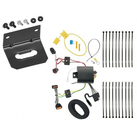 Trailer Wiring and Bracket For 17-19 KIA Sportage All Styles 4-Flat Harness Plug Play