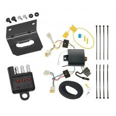 Trailer Wiring and Bracket and Light Tester For 2017 Hyundai Elantra 4 Dr. Limited Models 4-Flat Harness Plug Play