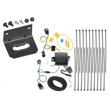 Trailer Wiring and Bracket For 17-20 Chrysler Pacifica Limited Touring L Plus 4-Flat Harness Plug Play