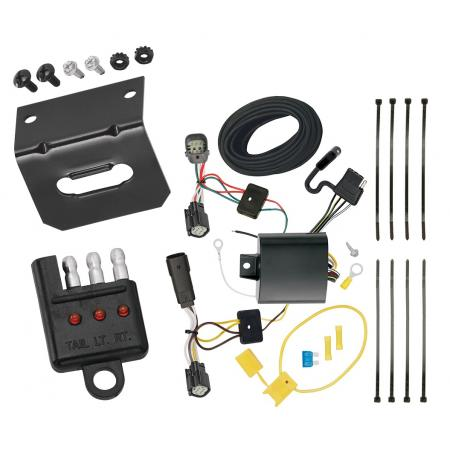 Trailer Wiring and Bracket and Light Tester For 17-18 Ford Escape 4-Flat Harness Plug Play