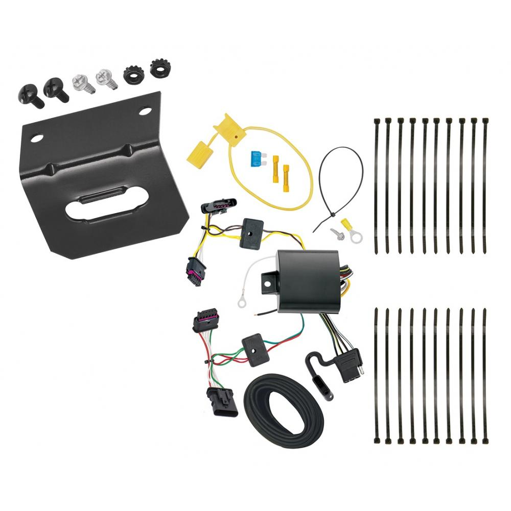 trailer wiring and bracket for 15-17 bmw x1 all styles 4-flat harness plug  play  trailerjacks.com