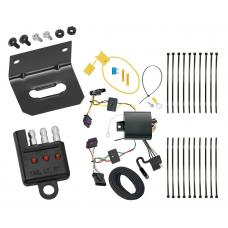 Trailer Wiring and Bracket and Light Tester For 15-17 BMW X1 All Styles 4-Flat Harness Plug Play
