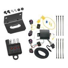 Trailer Wiring and Bracket and Light Tester For 15-18 RAM ProMaster City All Styles 4-Flat Harness Plug Play