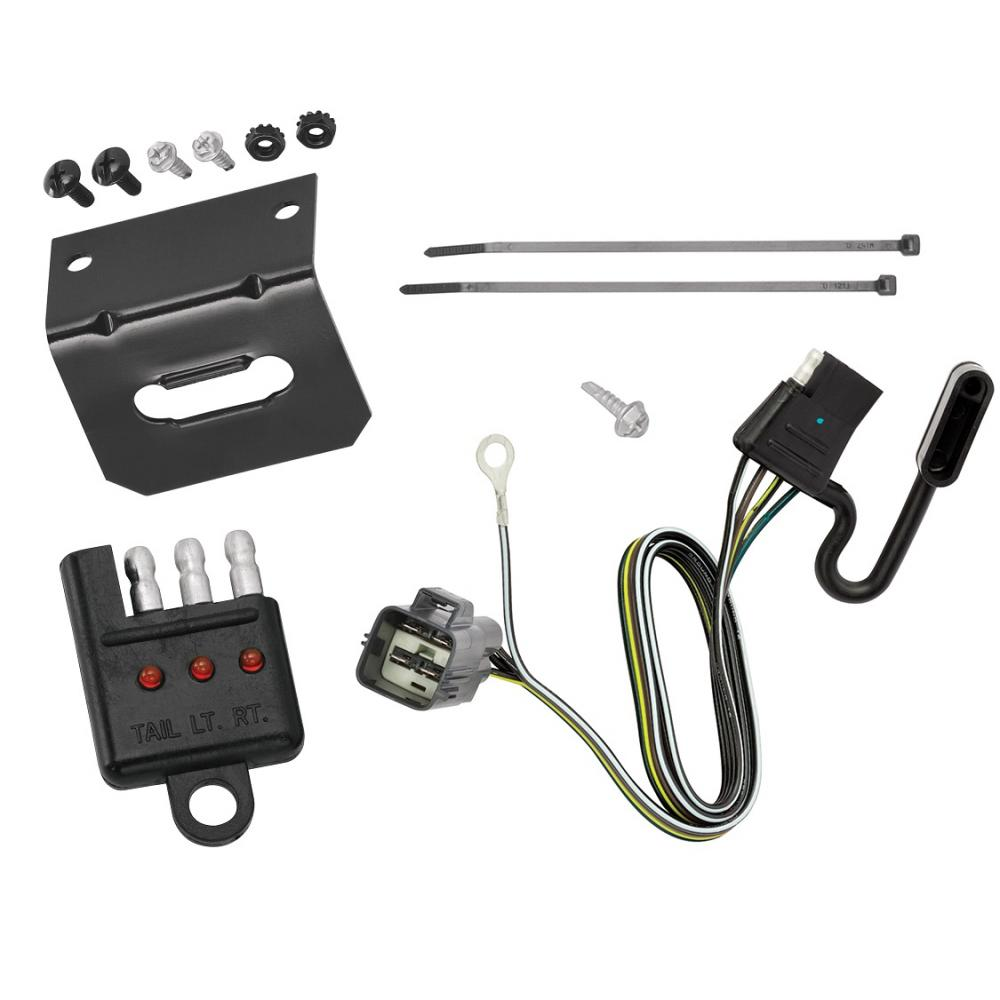 Trailer Wiring and Bracket and Light Tester For 17-20 GMC Acadia Cadillac  XT5 19-20 Chevy Blazer All Styles 4-Flat Harness Plug PlayTrailerJacks.com