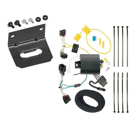 Trailer Wiring and Bracket For 2016-2019 Volkswagen Passat Excluding SE and SEL 4-Flat Harness Plug Play