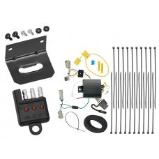 """Trailer Wiring and Bracket and Light Tester For 15-19 Ford Transit-350 Except Single Rear Wheel w/148"""" Wheelbase 4-Flat Harness Plug Play"""