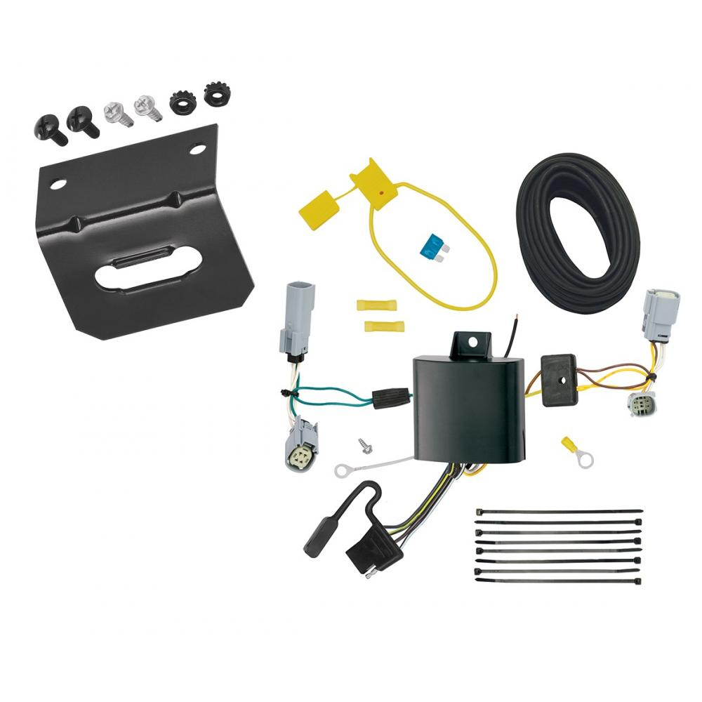 trailer wiring and bracket for 17-20 chrysler pacifica lx touring 4-flat  harness plug play  trailerjacks.com