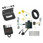 Trailer Wiring and Bracket and Light Tester For 17-20 Chrysler Pacifica LX Touring 4-Flat Harness Plug Play