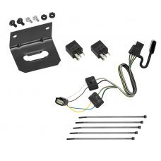 Trailer Wiring and Bracket For 16-20 Buick Envision All Styles 4-Flat Harness Plug Play
