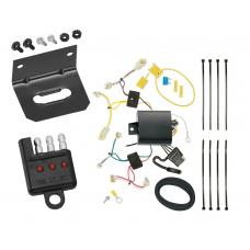 Trailer Wiring and Bracket and Light Tester For 17-18 Toyota Yaris iA 2016 Scion iA 4-Flat Harness Plug Play