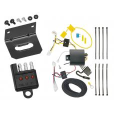Trailer Wiring and Bracket and Light Tester For 17-18 Toyota Corolla iM 2016 Scion iM All Styles 4-Flat Harness Plug Play