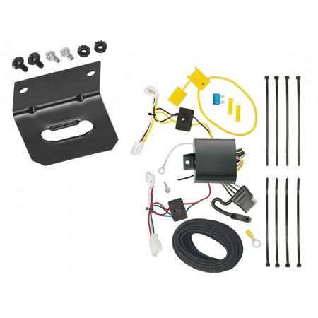 Trailer Wiring and Bracket For 17-18 Toyota Corolla iM 2016 Scion iM All Styles 4-Flat Harness Plug Play