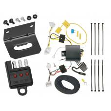 Trailer Wiring and Bracket and Light Tester For 16-19 Nissan Altima Sedan 4-Flat Harness Plug Play