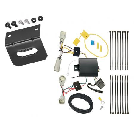 Trailer Wiring and Bracket For 2016 Cadillac CT6 All Styles 4-Flat Harness Plug Play