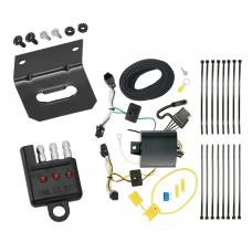Trailer Wiring and Bracket and Light Tester For 17-19 Buick LaCrosse All Styles 4-Flat Harness Plug Play