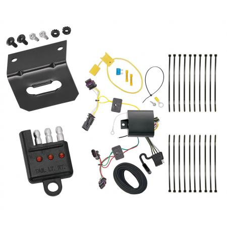 Trailer Wiring and Bracket and Light Tester For 17-19 Chevrolet Cruze Hatchback 4-Flat Harness Plug Play