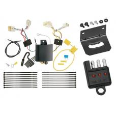 Trailer Wiring and Bracket and Light Tester For 17-18 Genesis G80 15-16 Hyundai Genesis Sedan 4-Flat Harness Plug Play