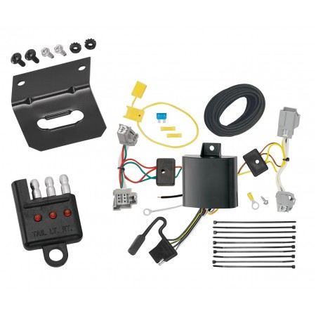 Trailer Wiring and Bracket and Light Tester For 10-17 Volvo XC60 All Styles 4-Flat Harness Plug Play