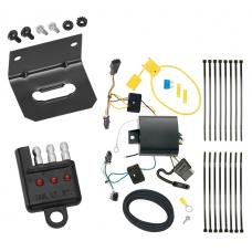 Trailer Wiring and Bracket and Light Tester For 16-20 Chevy Malibu Premier (New Body Style) 4-Flat Harness Plug Play