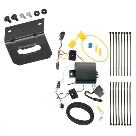 Trailer Wiring and Bracket For 16-20 Chevy Malibu Premier (New Body Style) 4-Flat Harness Plug Play