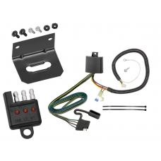Trailer Wiring and Bracket and Light Tester For 17-19 Honda CR-V All Styles 4-Flat Harness Plug Play