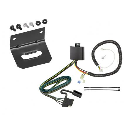 Trailer Wiring and Bracket For 17-19 Honda CR-V All Styles 4-Flat Harness Plug Play
