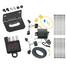 Trailer Wiring and Bracket and Light Tester For 16-19 VW Volkswagen Passat SE SEL R-Line Only 4-Flat Harness Plug Play