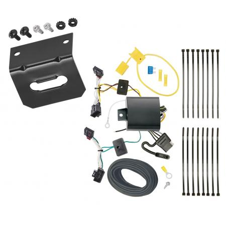 Trailer Wiring and Bracket For 16-19 VW Volkswagen Passat SE SEL R-Line Only 4-Flat Harness Plug Play