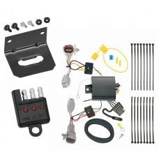 Trailer Wiring and Bracket and Light Tester For 17-20 Subaru Impreza Hatchback 4-Flat Harness Plug Play