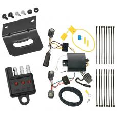 Trailer Wiring and Bracket and Light Tester For 17-19 Buick Encore All Styles 4-Flat Harness Plug Play