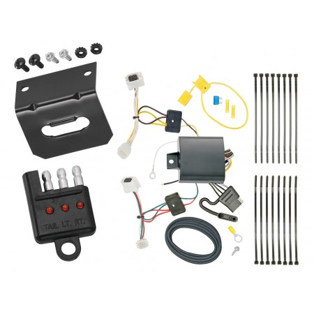 Trailer Wiring and Bracket and Light Tester For 17-19 Mazda CX-5 All Styles 4-Flat Harness Plug Play
