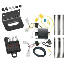 Trailer Wiring and Bracket and Light Tester For 17-20 KIA Niro Except Plug-In-Hybrid 4-Flat Harness Plug Play