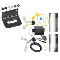 Trailer Wiring and Bracket For 17-20 KIA Niro Except Plug-In-Hybrid 4-Flat Harness Plug Play