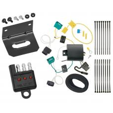 Trailer Wiring and Bracket and Light Tester For 18-20 Chevy Equinox except Premier 4-Flat Harness Plug Play