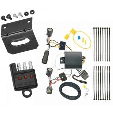 Trailer Wiring and Bracket and Light Tester For 17-20 Chevy Trax except LS 4-Flat Harness Plug Play