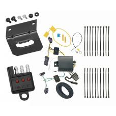 Trailer Wiring and Bracket and Light Tester For 17-20 Jeep Compass (New Body Style) 4-Flat Harness Plug Play