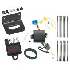 Trailer Wiring and Bracket and Light Tester For 18-19 Honda Odyssey without Fuse Provisions 4-Flat Harness Plug Play