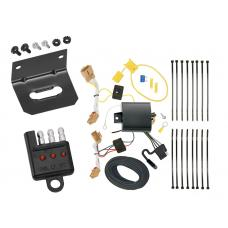 Trailer Wiring and Bracket and Light Tester For 18-20 VW Volkswagen Atlas 4-Flat Harness Plug Play