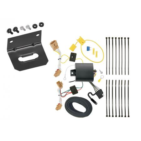 Trailer Wiring and Bracket For 18-20 VW Volkswagen Atlas 4-Flat Harness Plug Play