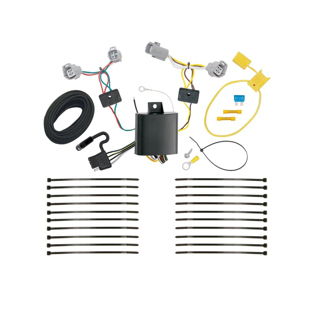 trailer hitch tow receiver w   wiring harness kit for 18