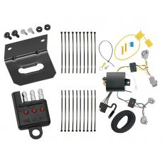 Trailer Wiring and Bracket and Light Tester For 18-19 Toyota C-HR All Styles 4-Flat Harness Plug Play