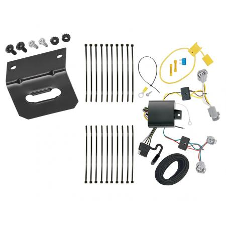 Trailer Wiring and Bracket For 18-20 Toyota C-HR All Styles 4-Flat Harness Plug Play