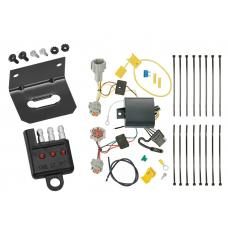 Trailer Wiring and Bracket and Light Tester For 17-19 Nissan Rogue Sport All Styles 4-Flat Harness Plug Play