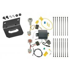 Trailer Wiring and Bracket For 17-19 Nissan Rogue Sport All Styles 4-Flat Harness Plug Play