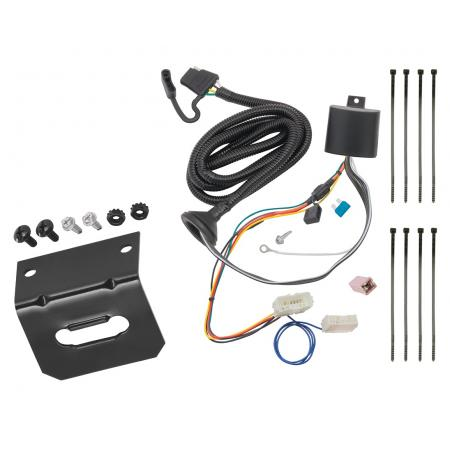 Trailer Wiring and Bracket For 16-20 Honda Pilot All Styles 4-Flat Harness Plug Play