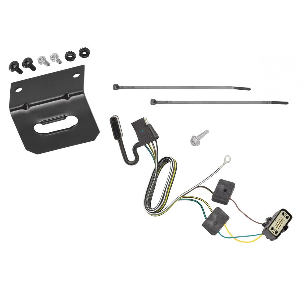 [DIAGRAM_3US]  Trailer Wiring and Bracket For 18-20 Buick Enclave Chevy Traverse 4-Flat  Harness Plug Play | Buick Enclave Trailer Wiring Harness |  | TrailerJacks.com