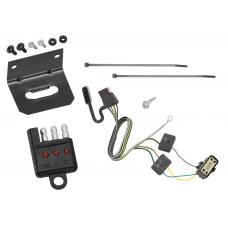 Trailer Wiring and Bracket and Light Tester For 18-19 Buick Enclave 18-20 Chevy Traverse 4-Flat Harness Plug Play