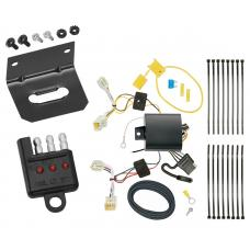 Trailer Wiring and Bracket and Light Tester For 18-19 Hyundai Sonata All Styles 4-Flat Harness Plug Play